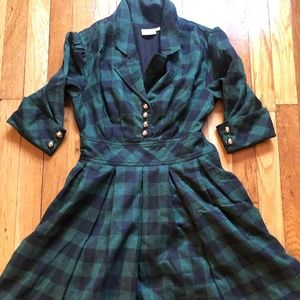 Green/Blue Gingham Dress